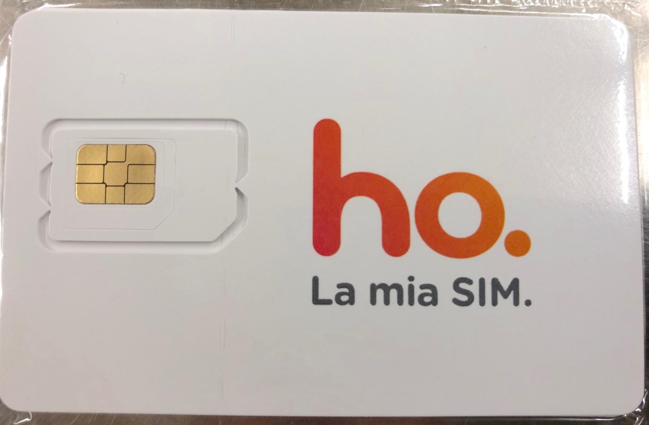 SIM ho. mobile. 50Gb internet, minuti illimitati, SMS illimitati